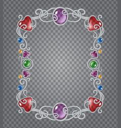 gemstones frame vector image vector image