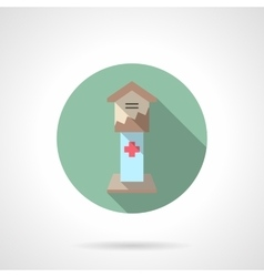 Health care fundraising flat color icon vector image