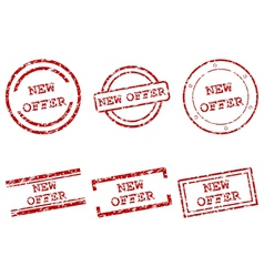 New offer stamps vector image vector image