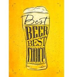 Poster best beer yellow vector image vector image