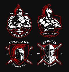 set of ancient warriors vector image