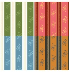 texture stripped set vector image vector image