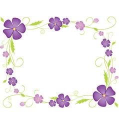A floral frame from decorative violets vector