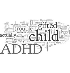Adhd gifted vector