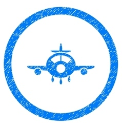 Aircraft Rounded Icon Rubber Stamp vector