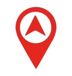 Arrow location pin isolated icon design vector