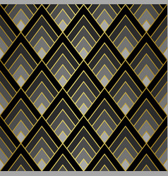 art deco golden seamless pattern gatsluxury vector image