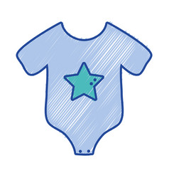 baby clothes that used in the body vector image