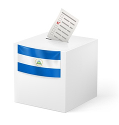 Ballot box with voting paper Nicaragua vector image