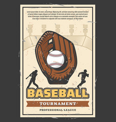 Baseball league professional tournament poster vector