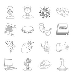 beauty profession history and other web icon in vector image