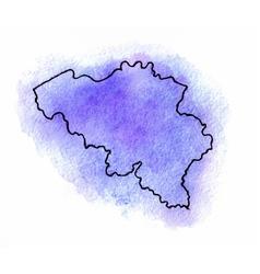 Belgium watercolor map vector image