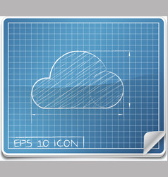Blueprint Icon vector image