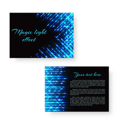 bright leaflet with neon light vector image