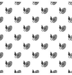 bright sunflower pattern seamless vector image