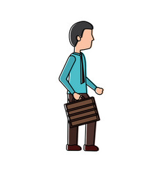 business man walking holding briefcase vector image