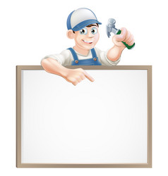 Carpenter sign vector