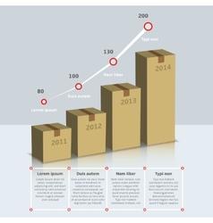 Carton box growth infographic vector image