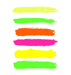 color highlighter brush lines hand drawing vector image