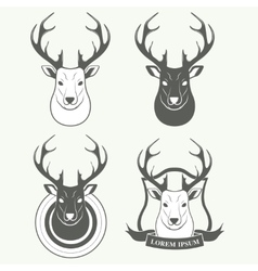 Deer head isolated on white background vector