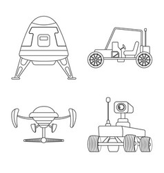 design of mars and space logo set of mars vector image