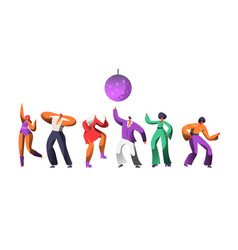 disco character dance at retro concert disco vector image