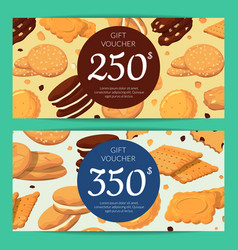 Discount or gift card voucher templates vector