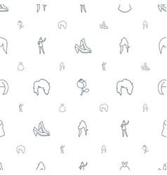 Elegant icons pattern seamless white background vector