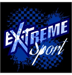 EXtreme sport - logo for tshirt vector