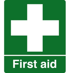 First Aid Station Safety Sign vector image