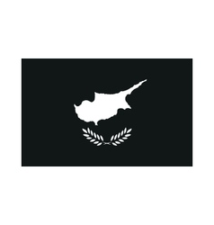 flag of cyprus monochrome on white background vector image