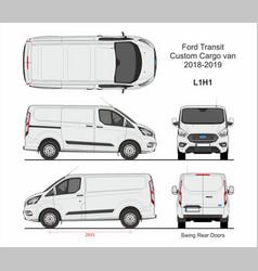 Ford transit custom cargo van l1h1 2018-2019 vector
