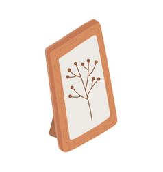 Frame decoration picture foliage branch isolated vector