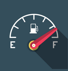 Full fuel icon flat design gasoline dashboard vector