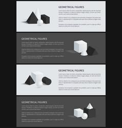 geometrical figures banner set vector image