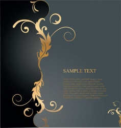 golden floral background vector image