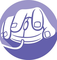 Hand on a Mouse Icon vector image