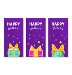 happy birthday banners set happy holidays vector image