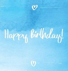 Happy Birthday Script blue vector