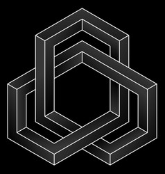 impossible cube icon vector image