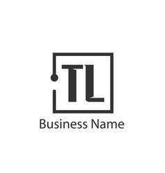 initial letter tl logo template design vector image