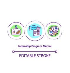 Internship program alumni concept icon vector