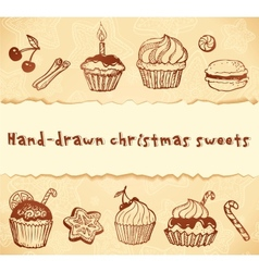Isolated bakery hand-drawn set vector