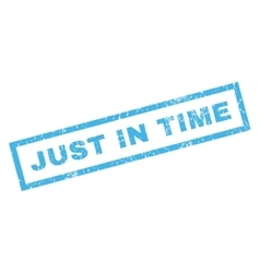 Just In Time Rubber Stamp vector