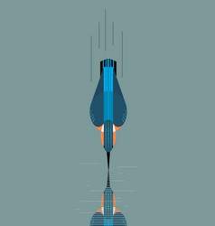 kingfisher dives for prey vector image