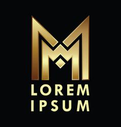 letter m logo alphabet logotype design vector image