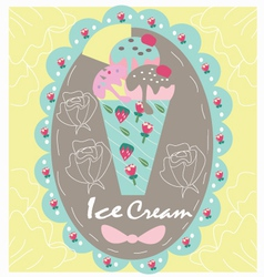 Logo sweet icecream vector image