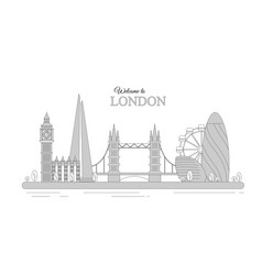 london cityscape as an vector image