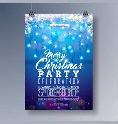 Merry christmas party flyer design with vector