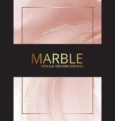 Modern pastel rose pink beige pastel watercolor vector